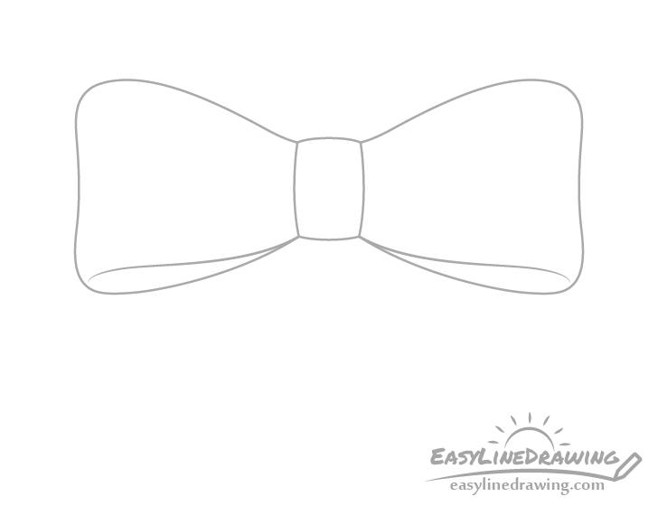 Ribbon folds drawing