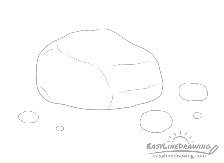 Rock details drawing