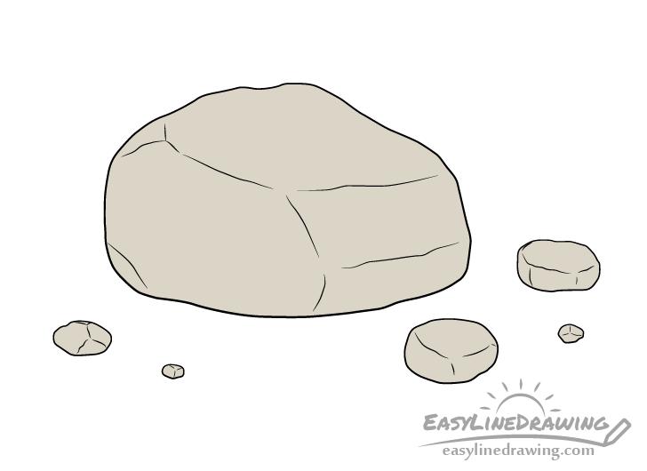 Rock drawing coloring