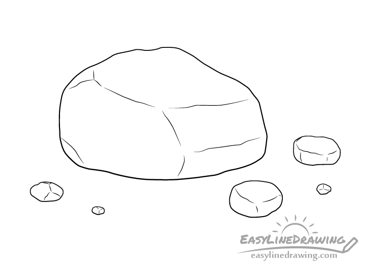 Rock line drawing