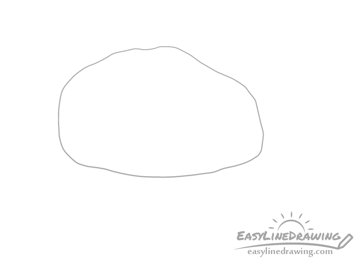 Rock outline drawing