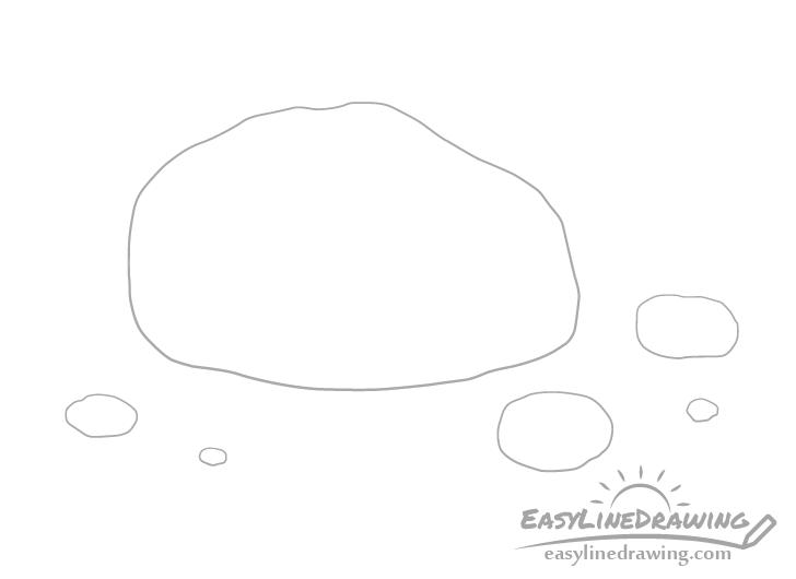Rock pebbles drawing