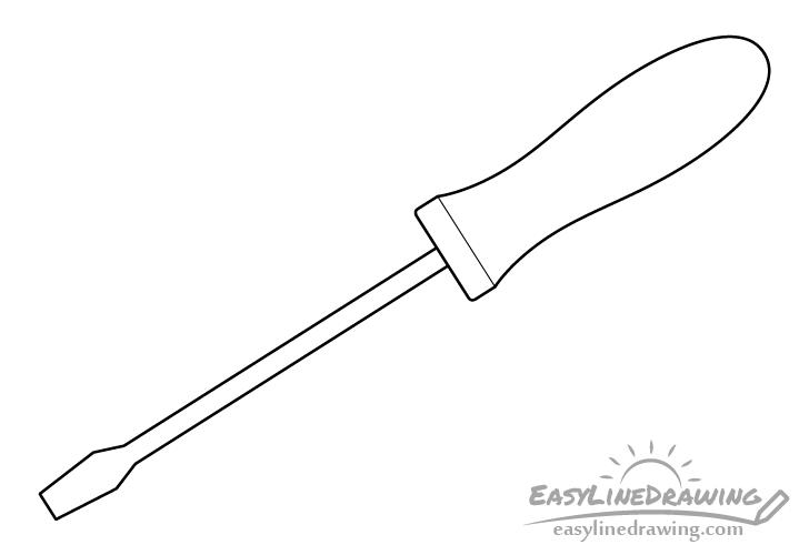 Screwdriver line drawing