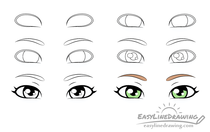 Sly eyes drawing step by step