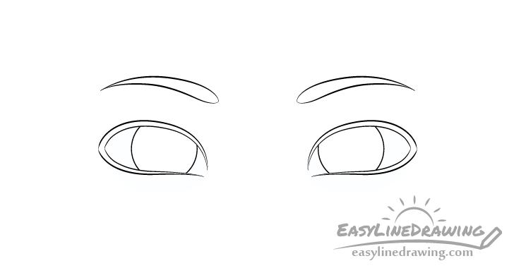 Sly eyes eyebrows drawing