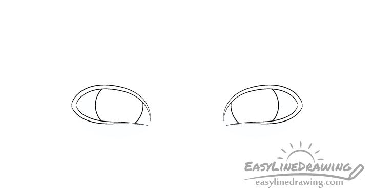 Sly eyes irises drawing