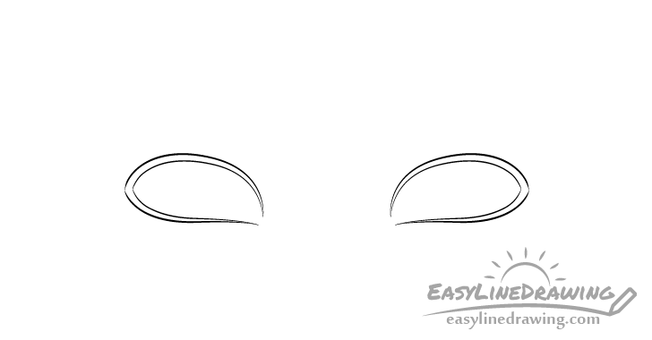Sly eyes outline drawing