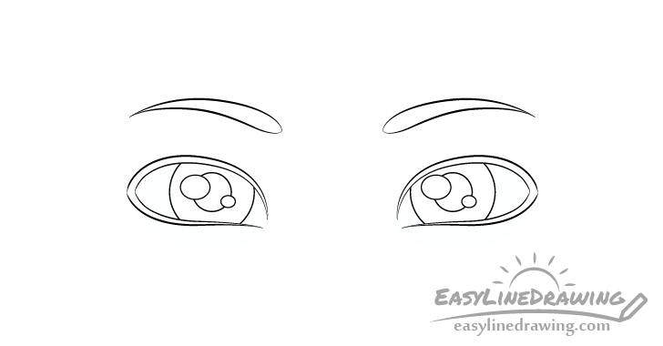 Sly eyes pupils drawing