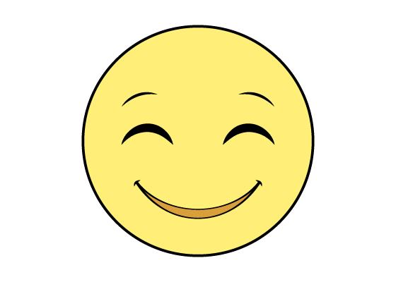 Smiling face emoji drawing tutorial