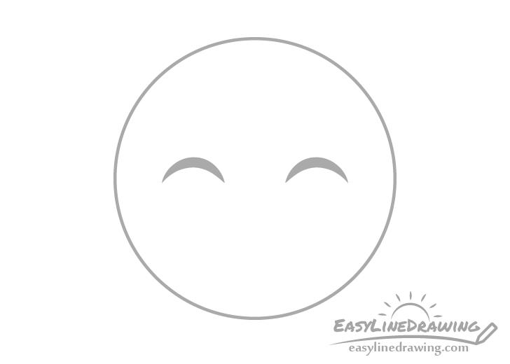 Smiling face emoji eyes drawing