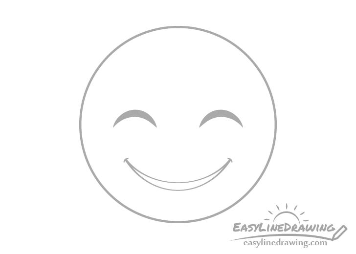 Smiling face emoji mouth drawing