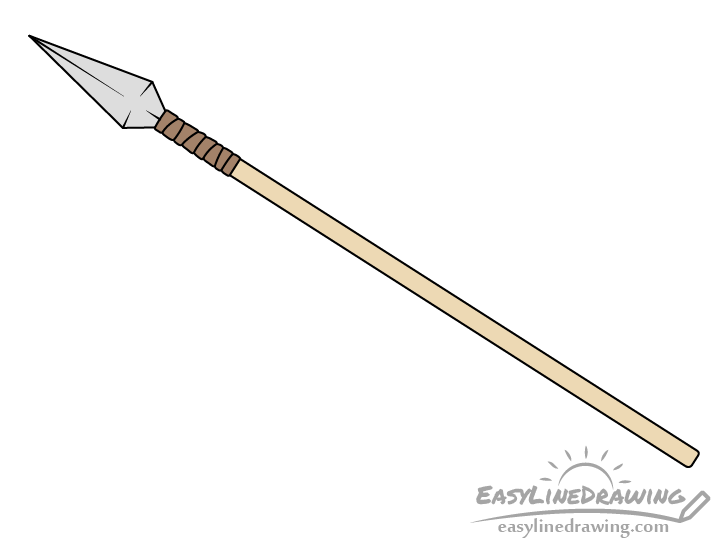 Spear drawing