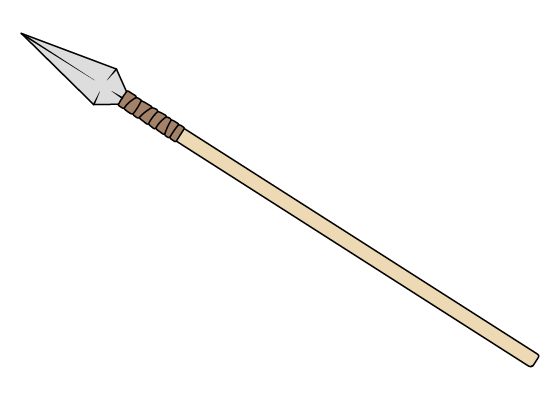 Spear drawing tutorial