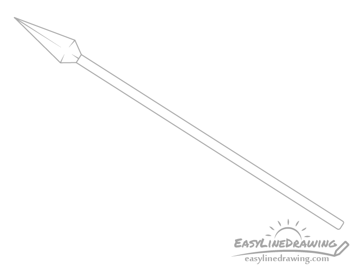 Spear edges drawing