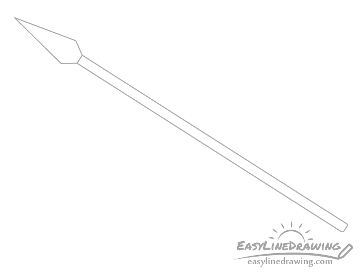 Spear pole drawing