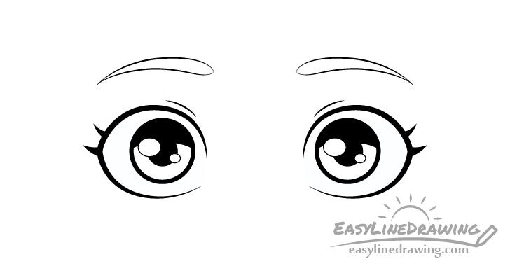 Surprised eyes shading