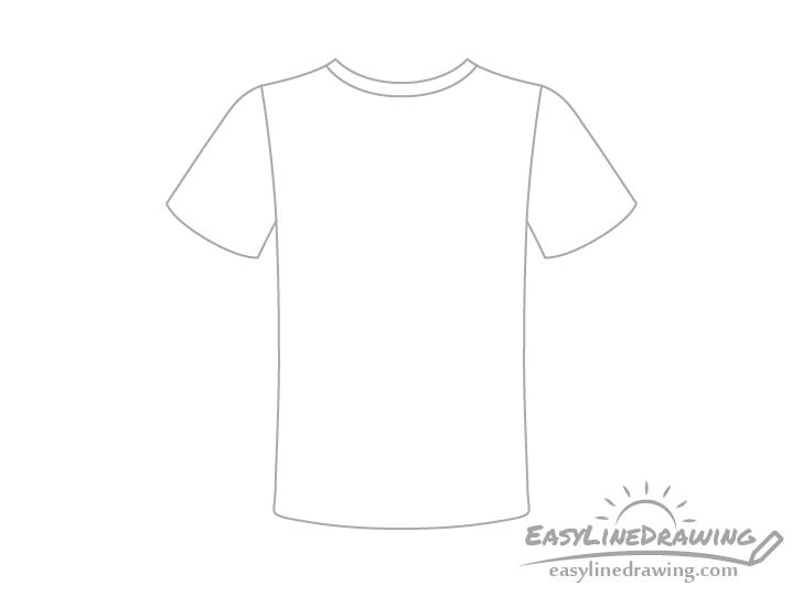T-shirt neckline drawing