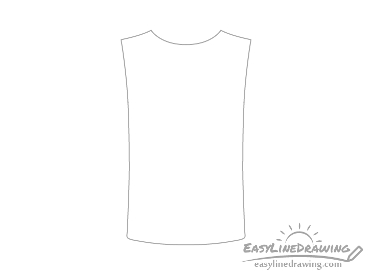 T-shirt outline drawing