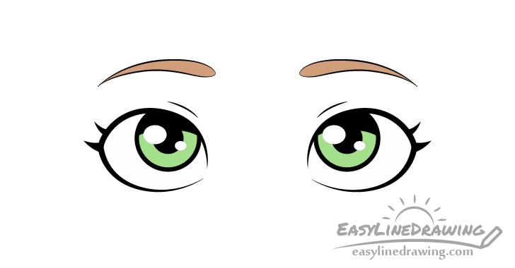 Surprised eyes drawing