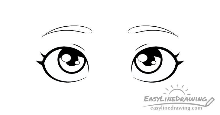 Thinking eyes shading