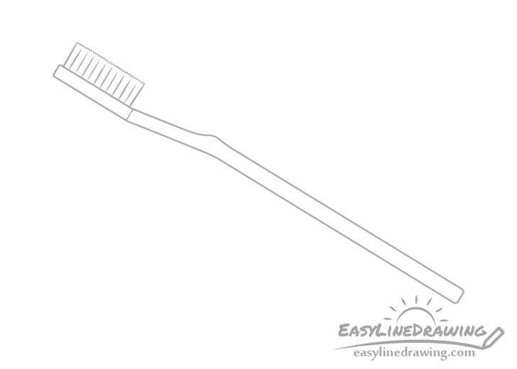 Toothbrush bristle tufts drawing