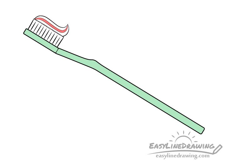 Toothbrush drawing