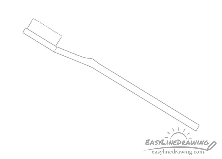 Toothbrush handle drawing