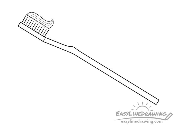 Toothbrush line drawing