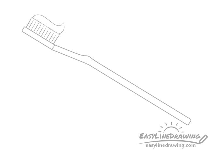 Toothbrush paste drawing