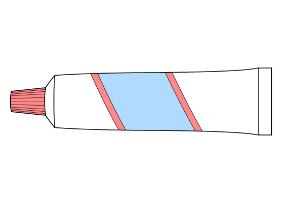 Toothpaste drawing tutorial