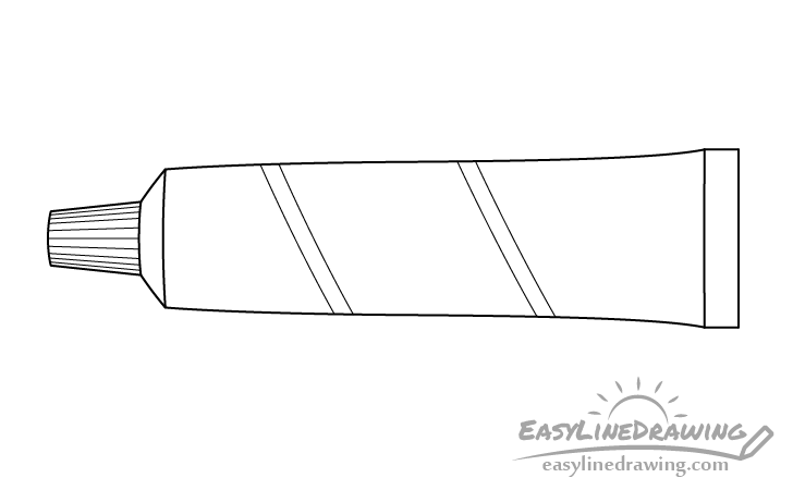 Toothpaste line drawing