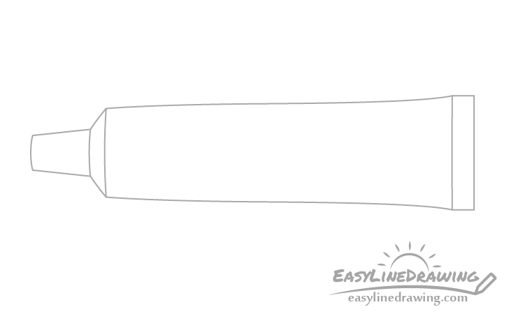 Toothpaste outline drawing
