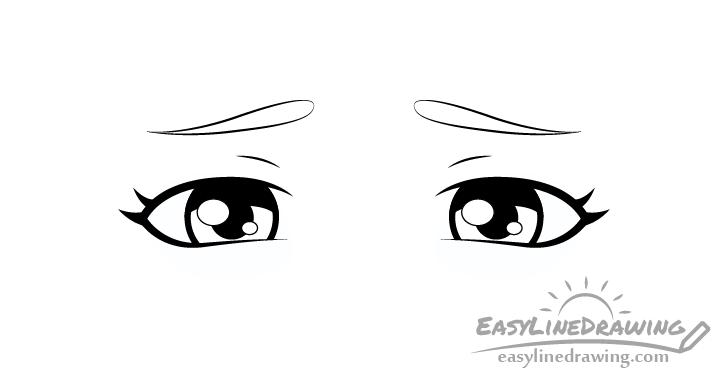 Upset eyes shading