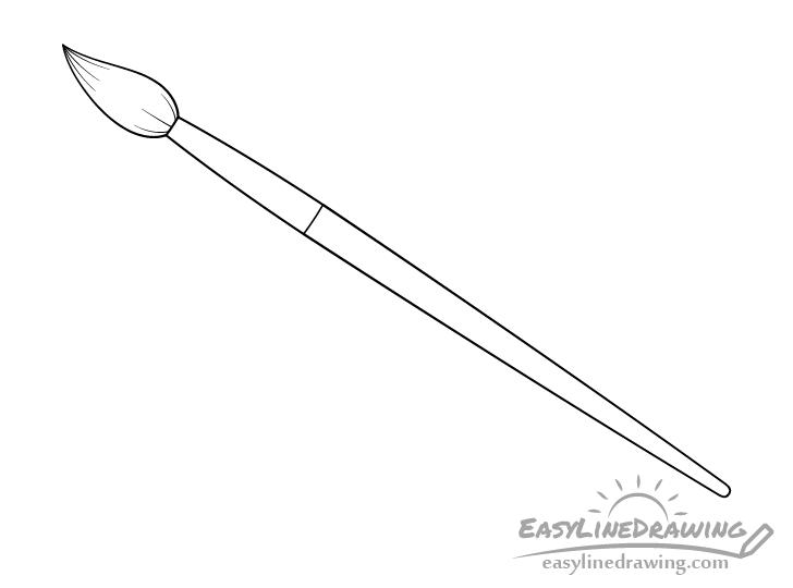 Artist paint brush line drawing