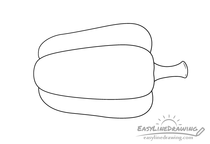 Bell pepper line drawing