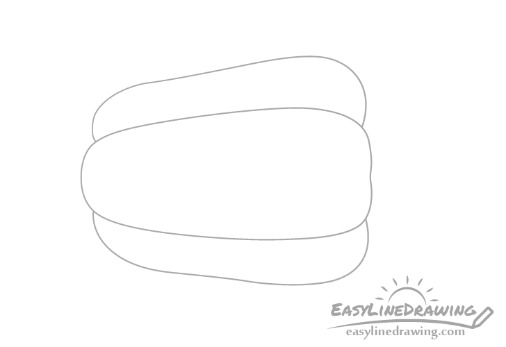 Bell pepper outline drawing