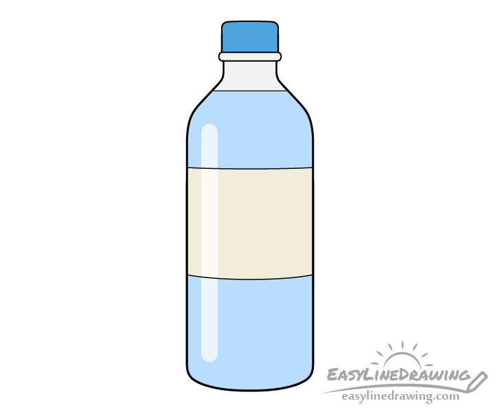 Bottle of water drawing