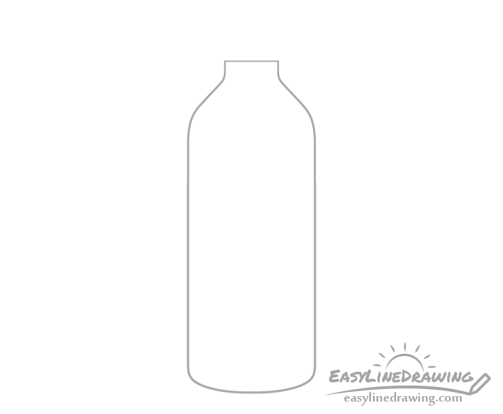 Bottle of water outline drawing