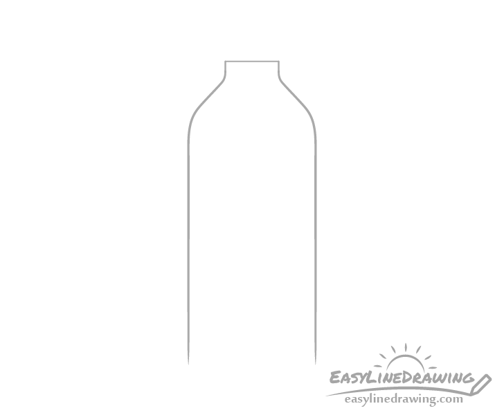 Bottle of water sides drawing