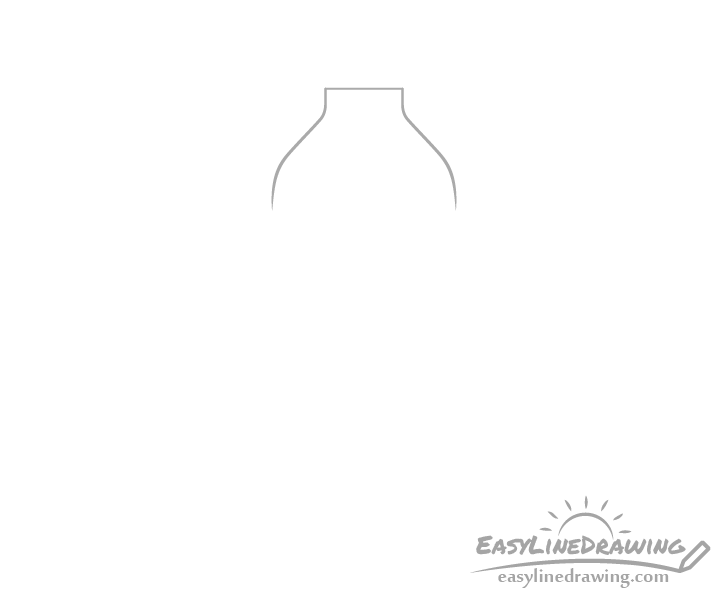 Bottle of water top drawing