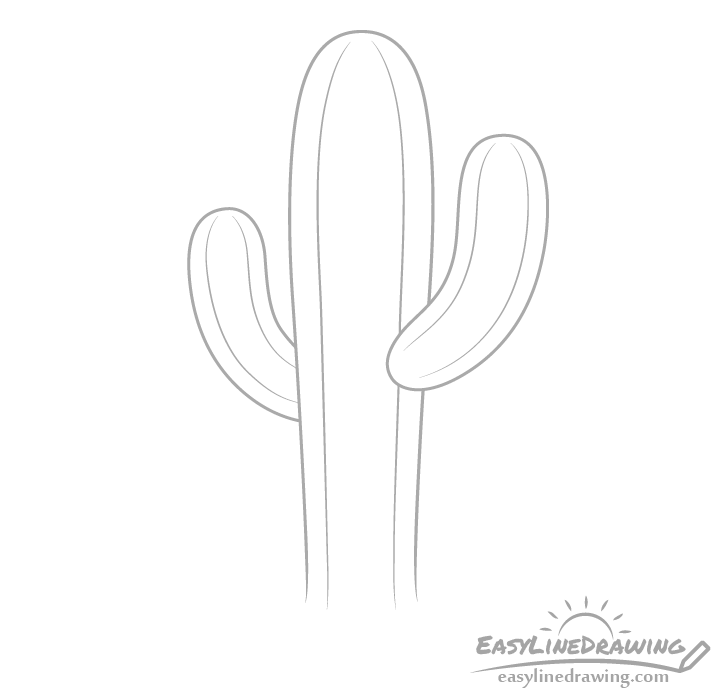 Cactus lines drawing