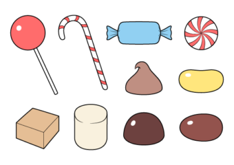 How to Draw Candies & Sweets Step by Step