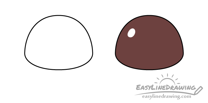 Chocolate candy drawing step by step