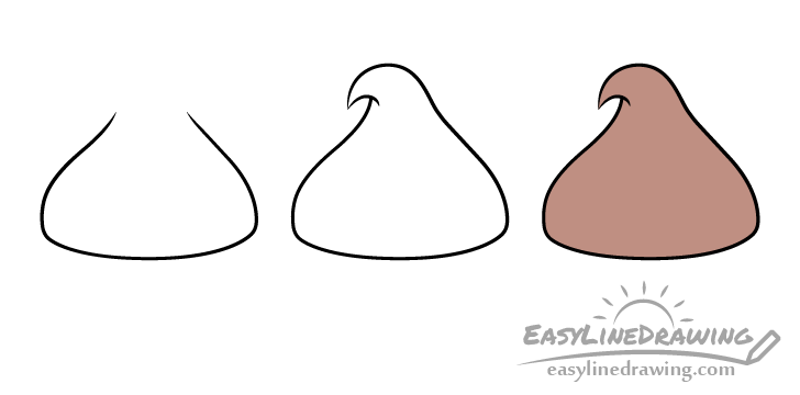 Chocolate drop candy drawing step by step