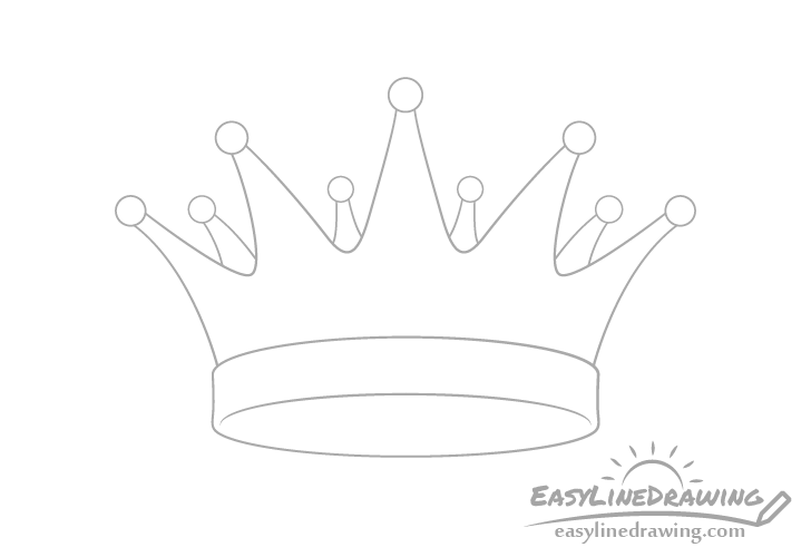Crown back drawing