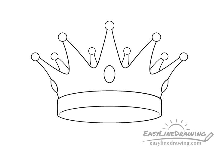 Crown line drawing