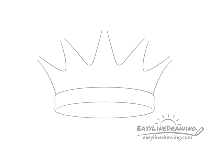 Crown spikes drawing