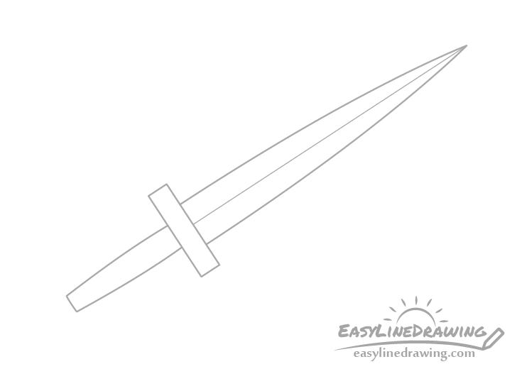 Dagger grip drawing