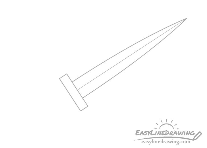 Dagger guard drawing