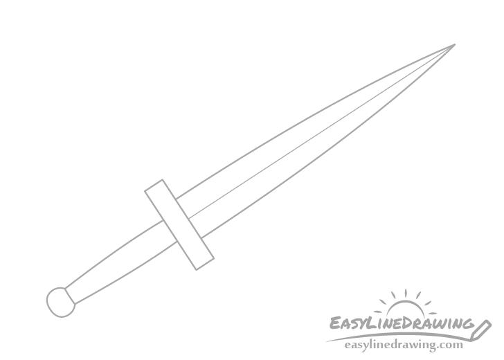 Dagger pommel drawing